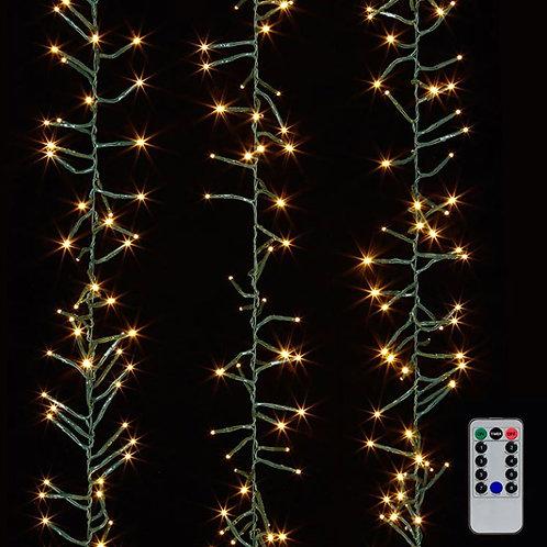 Cluster Garland Green Wire Lights 19.6'
