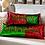 "Thumbnail: Sequin Merry Pillow  Red Green 24""L"