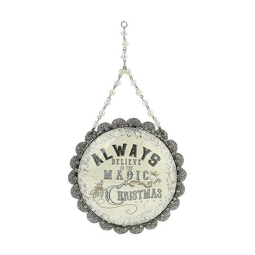"""Always Believe in the Magic Dome Christmas Ornament 5"""""""