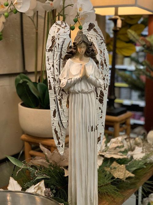"""Antique Praying Angel 27.25""""H"""