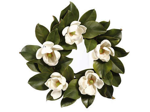 Magnolia Flower Wreath 16""