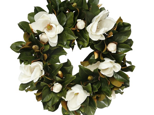 Magnolia Flower Wreath 30""