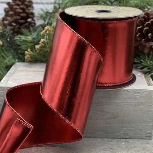 "Metallic Foil, Red 4""x10YDS"