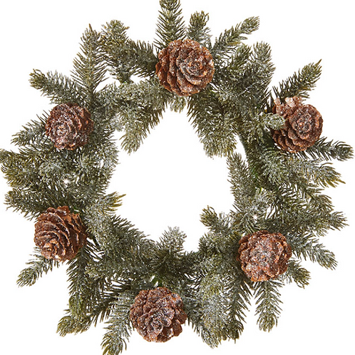 """Iced Pine Candle Ring 7"""""""