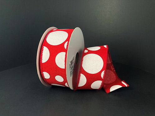 """Dots, Red White 1.5""""x10YDS"""