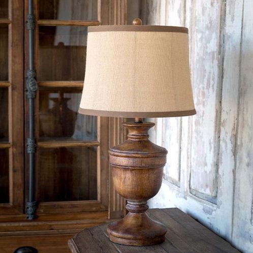 Wooden Urn Lamp