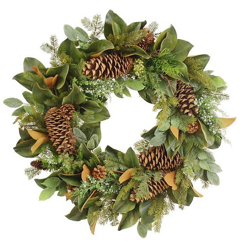 "Montana Wood Wreath 32"""