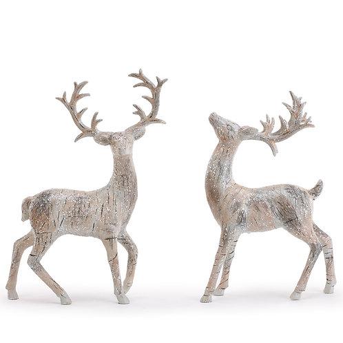 "Birch Deer Set/2 12.75"""