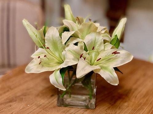 """Stargazer Lily in Vase 10""""H"""