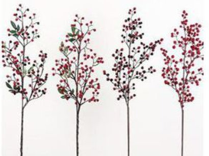 """Water Berry Branch Red 32"""""""