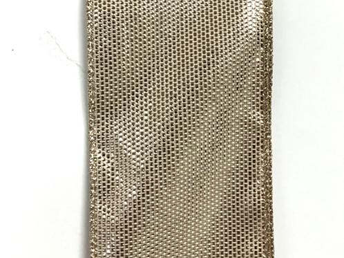 "SHINY WOVEN LIGHT GOLD 2.5""x50YDS $21.90"