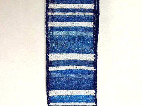 "Sheer Stripes, Navy 1.5""x10YDS"