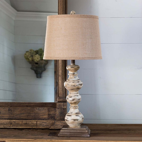Antique Turned Spindle Lamp