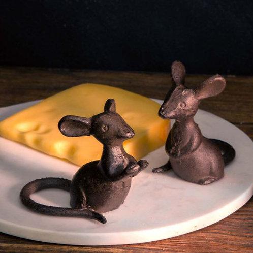 Cast iron Mice Pair Set/2