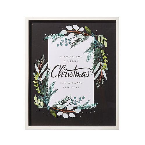"Holiday Greetings Framed Wall Art 21"""