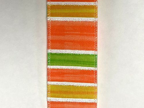 """Stripes and Lines, Lime 1.5""""x10YDS"""