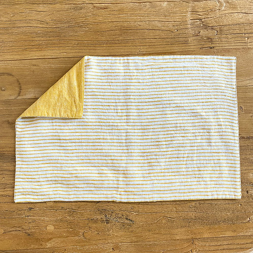 Reversible Linen Placemat, Yellow S/6