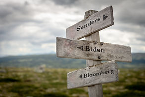 Sanders, Biden and Bloomberg engraved te