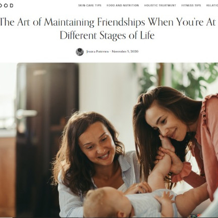 Maintaining Friends When You're at Different Stages in Life