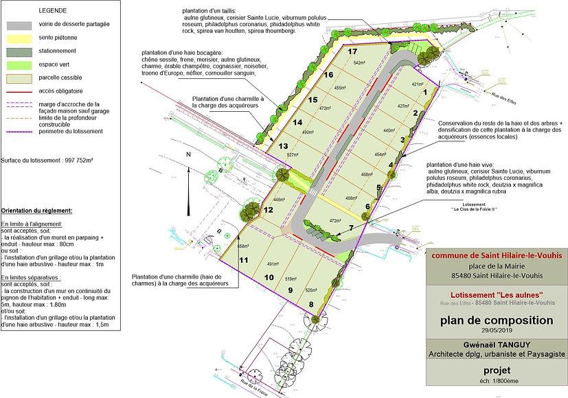 02 Plan Lotissement Les aulnes  St Hilai