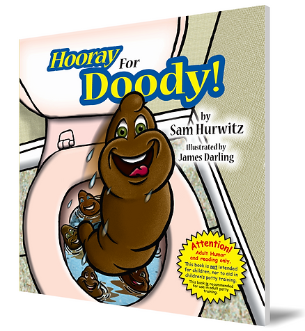 "Picture of ""Hooray For Doody!' adult potty and poop humor book by Sam Hurwitz."