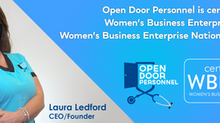 PRESS RELEASE: Open Door Personnel Certified By WBENC