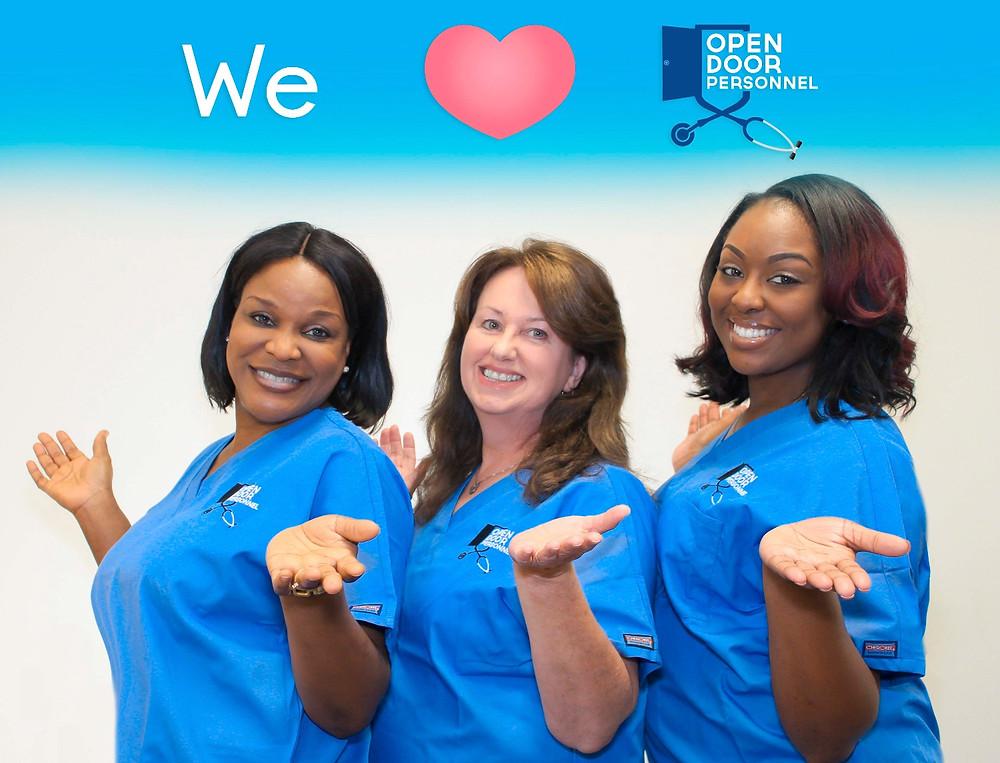 Happy Nurses of Open Door Personnel