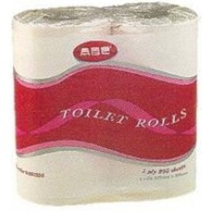 ABC 1PLY RECYCLE T/R 850SHEET, 4ROLL/PK, 12PK/BAG