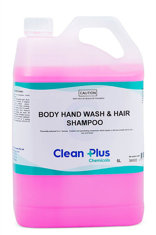 CLEANPLUS BODY-HAND WASH & HAIR SHAMPOO 5LTR
