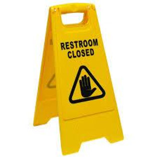 OATES  NON SLIP  A FRAME REST ROOM CLOSED SIGN