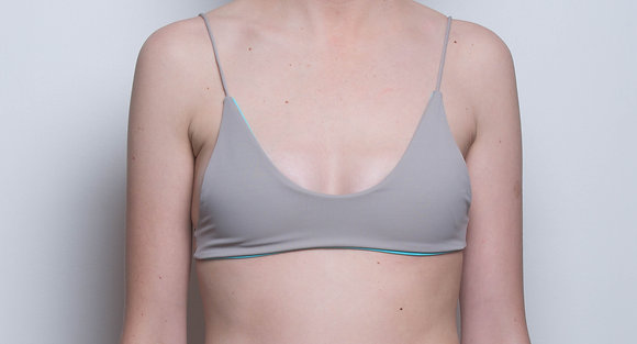 bingin bralette 'nude and aqua'