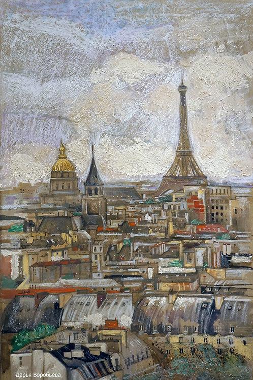 Виды Парижа. 60*80, бумага