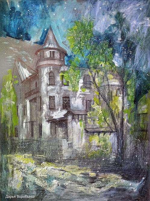 Мансуровский переулок. 30*40, картон