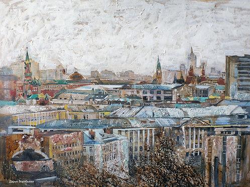 Вид Москвы. 60*80, бумага