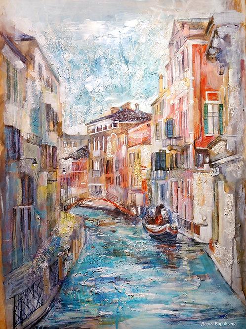 Романтика в Венеции. 55*80, бумага