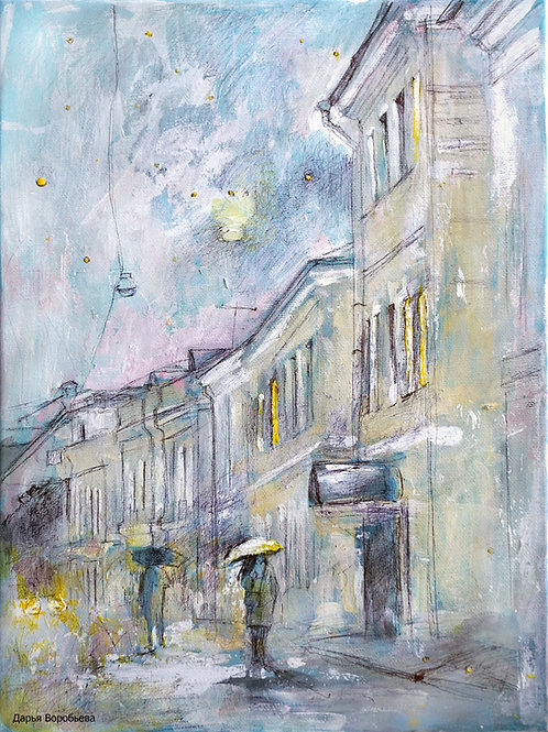 2-й Кадашёвский переулок. 30*40, холст