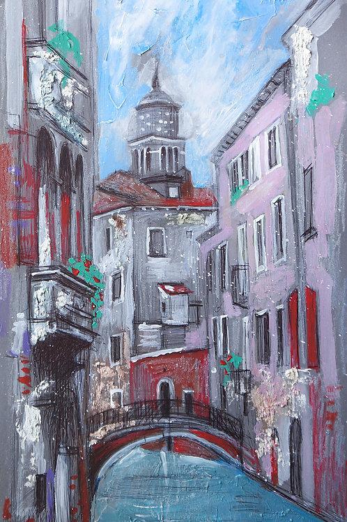 Улочка в Венеции. 25*45, картон