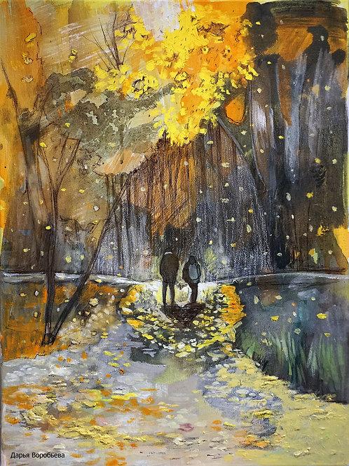 Магия осеннего леса. 30*40, холст