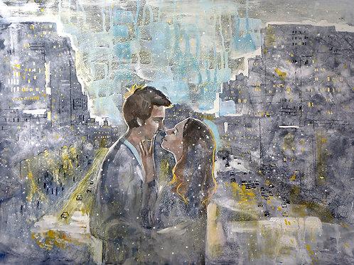 Городская романтика. 70*50, бумага