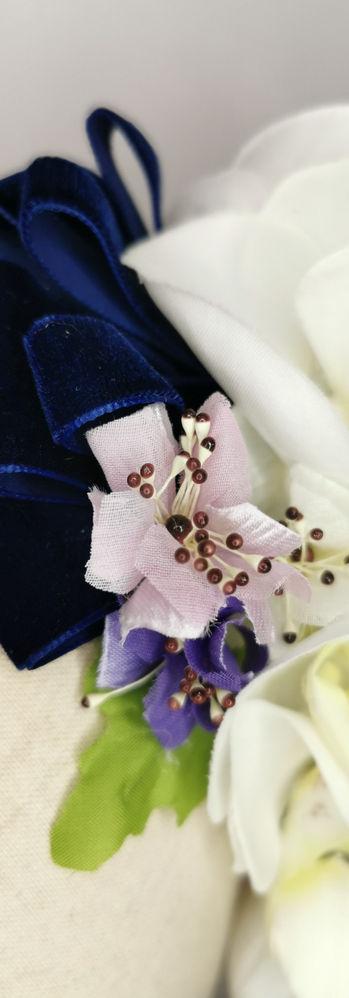White orchid, vintage spring bloom
