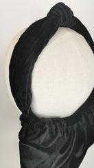 Knotted black velvet half snood (3).jpg