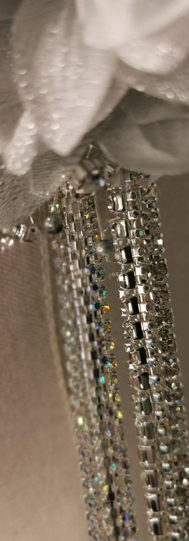 Silver metallic dhalias