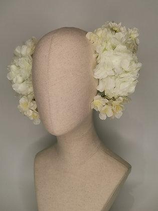 Champagne blossom Marsha Hunt inspired twin set on a velvet wired base