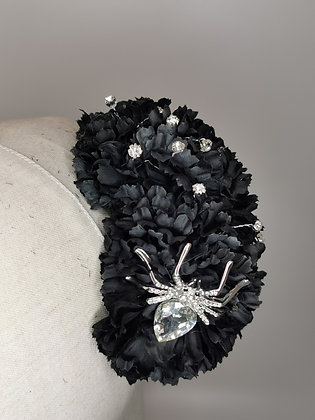 Black carnations with wired diamante studs