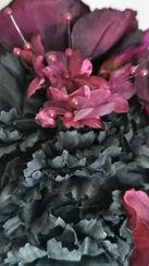 Deep purple hydrangea with matching mill