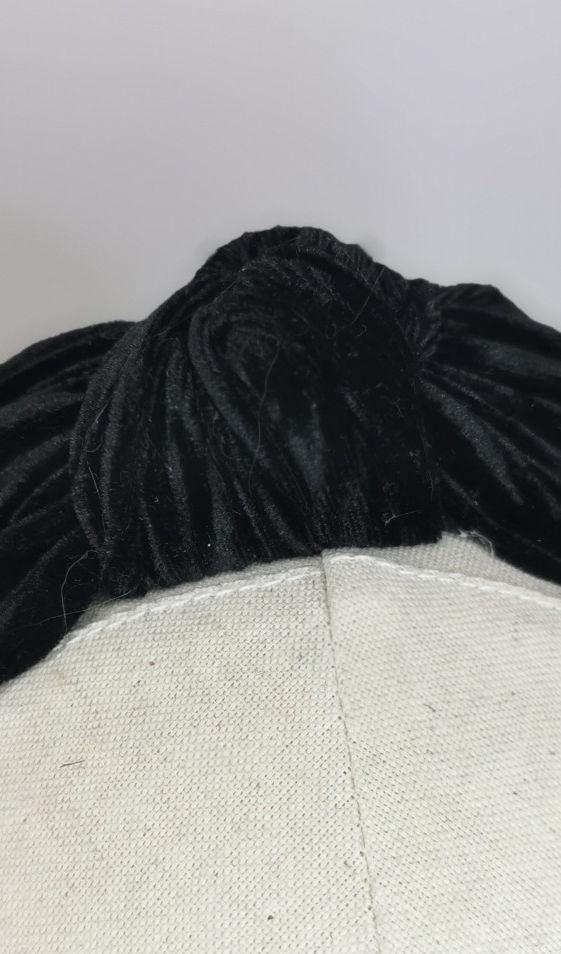 Knotted black velvet half snood.jpg