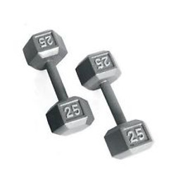 GREY HEX DUMBBELLS