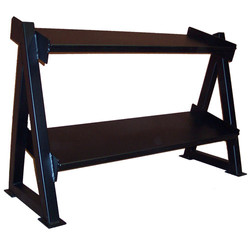 MAX#825 2-Tier Tray Dumbell Rack-4ft