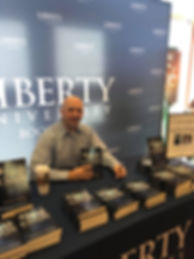 Best Selling Author Jonathan E. Hickory at Liberty University Bookstore with his book Break Every Chain