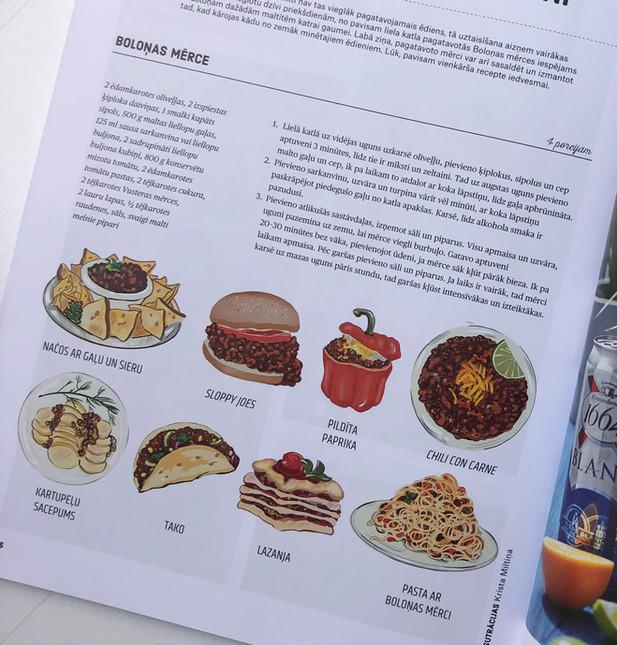 "Illustration for ""Pie Galda"" magazine"